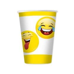 Bicchieri Emoticons 8 pezzi 200 cc