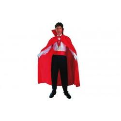 Mantello, rosso con colletto, Halloween carnevale