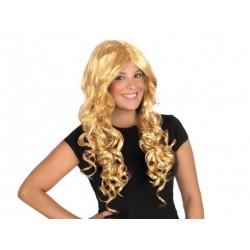 Parrucca bionda lunga con ricci