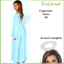 Costume angelo azzurro bambino/a taglia 7/9 anni