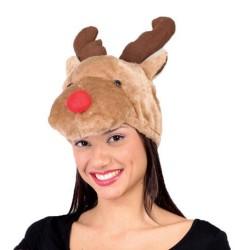 Cappello  renna con corna