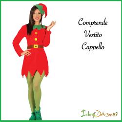 Costume Elfo donna aiutante di babbo Natale taglia M