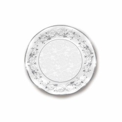 Piatto Prestige Argento in carta diam 27 cm