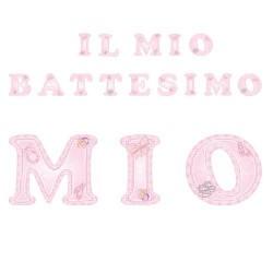 Festone battesimo rosa bambina addobbo
