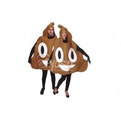 Costume Emoticons faccine cacca da adulto carnevale