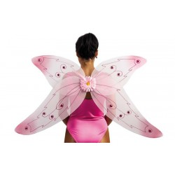 Ali Farfalla Rosa con fiore -Adult butterfly wings with flower
