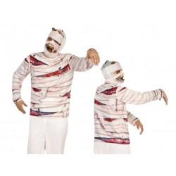 Costume Mummia maglia Halloween horror uomo Taglia M/L