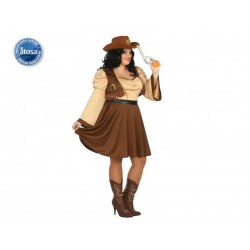 Costume Cow Girl  Donna Carnevale Taglia XXL