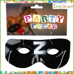 Maschera Zorro da bambino nera Moschettiere Mascherato Carnevale