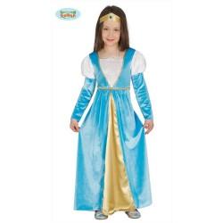 Costume  Principessa Azzurra Bambina taglia 5/6 anni Carnevale