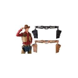 Cinturone Pistole Cow Boy Carnevale