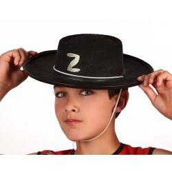 Cappello Zorro in feltro Bambino Carnevale
