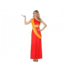 Costume Indù indiana donna taglia M/L arancione Atosa