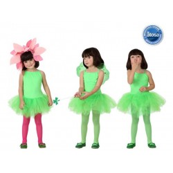 Costume Tutu Ballerina Bambina Verde Ballo carnevale