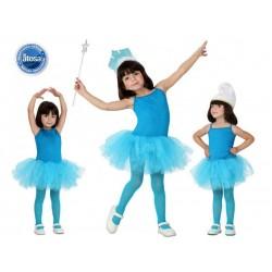 CostumeTutu bambina Ballerina Blu Ballo Carnevale