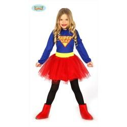 Costume Super Eroina Bambina Carnevale