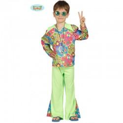 Costume Hippie Bambino taglia7/9 anni