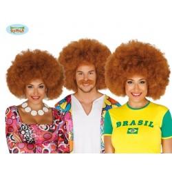 Parrucca riccia afro hippie anni 60 70