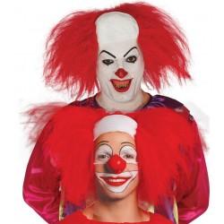 Parrucca clown pagliaccio con calotta
