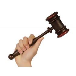 Martello da giudice in pvc travestimento la corte tribunale accessori