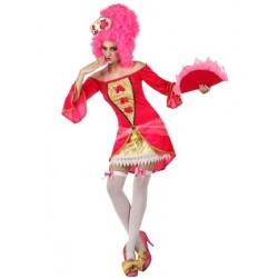 Costume Cortigiana Sexy Donna XS Carnevale