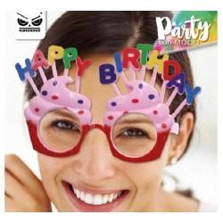 Occhiali torta candeline compleanno