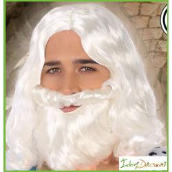 Parrucca bianca Babbo Natale Re Magi Santa Claus