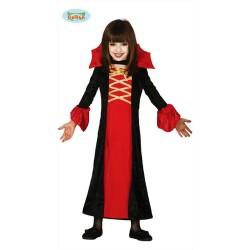 Costume Vampiressa Bambina abito Halloween Carnevale