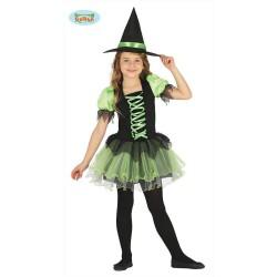 Costume strega bambina tutu da streghetta Halloween Carnevale