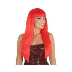 Parrucca lunga rossa con frangia capelli lunghi arancione con frangetta Atosa