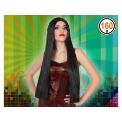 Parrucca nera lunga liscia