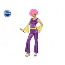 Costume Cantante Disco Rock Donna Carnevale