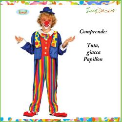 Costume da Pagliaccio Bambino vestito clown del circo multicolore