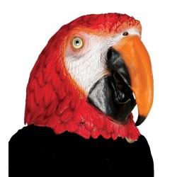 Maschera pappagallo in lattice da adulto carnevale