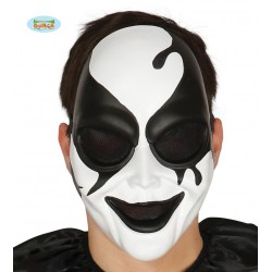 Maschera arlecchino killer  bianca e nera