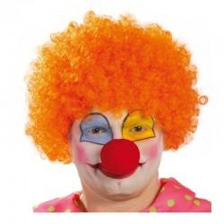 Parrucca da  clown pagliaccio riccia arancione