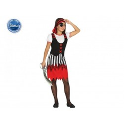 Costume pirata bambina piratessa