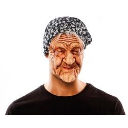 Maschera da vecchia befana con cappelli e fazzoletto