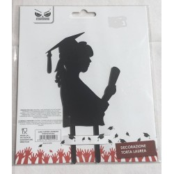 Cake topper laureata decorazione