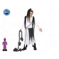Costume fantasma bambino bianco