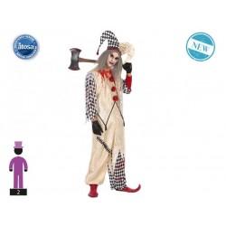 Costume da pagliaccio clown uomo assassino