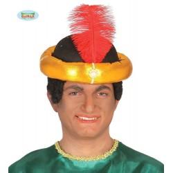 CappelloTurbante arabo oro uomo Re magio