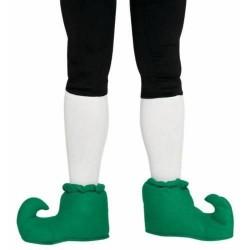 Scarpe da elfo babucce gnomo verdi folletto