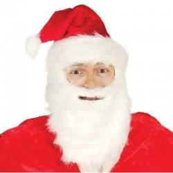 Cappello Babbo Natale completo con barba e baffi