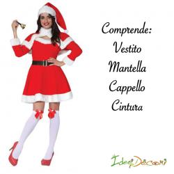 Costume da Babbo Natale donna mamma vestito