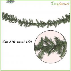 Ghirlanda natalizia di Natale verde cm 210 rami 160