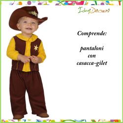 Costume da cow boy neonato bambino vestito bebè far west