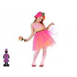 Costume fiore rosa bambina