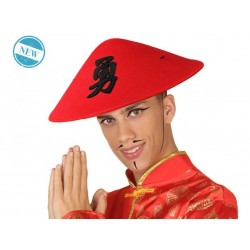 Cappello cinese adulto rosso