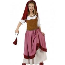 Costume locandiera cameriera bambina
